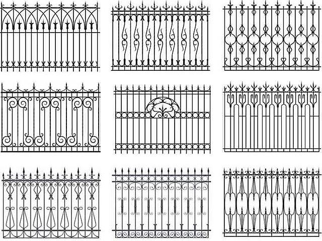 Кованый забор своими руками чертежи