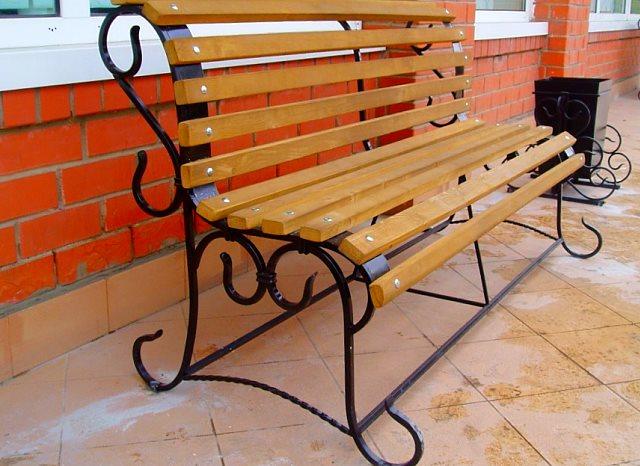 кованые скамейки и лавочки фото