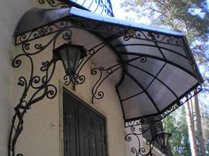 Кованые навесы над крыльцом, фото и цены на козырьки в Липецке